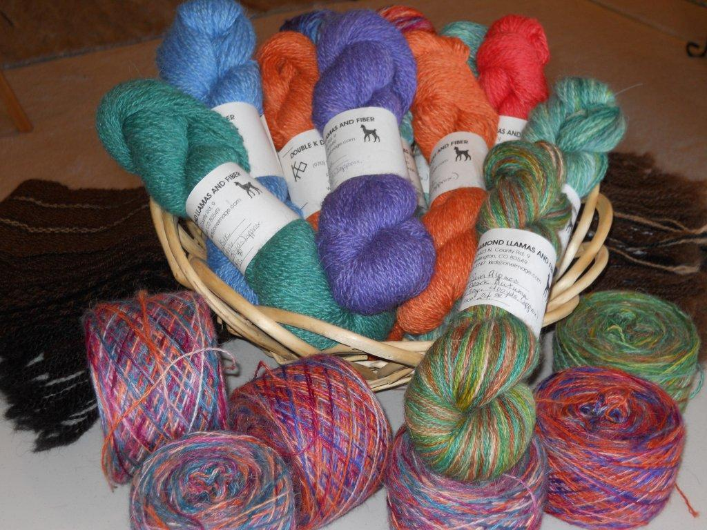 colorful yarns